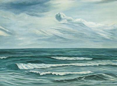 Waving Sea Poster by Angeles M Pomata