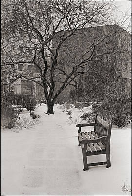 West Village Snow  Poster by Julie VanDore
