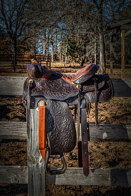Western Saddle Poster by Doug Long