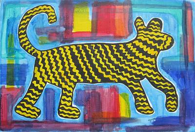 Wild Cat Poster by Diane Pape