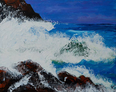 Poster featuring the painting Wild Sea by Judi Goodwin