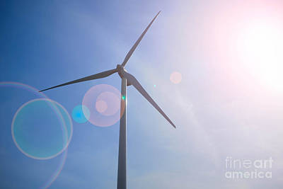Wind Turbine Poster by Amy Cicconi