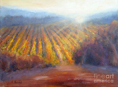 Winery Light Poster by Carolyn Jarvis