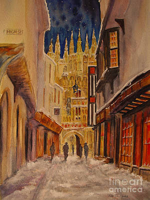 Winter In Canterbury Poster by Beatrice Cloake
