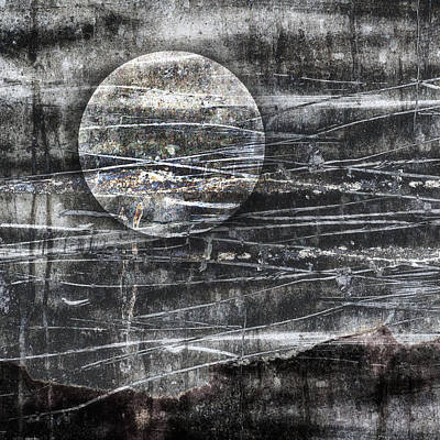 Winter Moon Poster by Carol Leigh