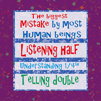 Wisdom Listening Understanding Telling Mistakes Elegant Background Designs  And Color Tones N Color  Poster