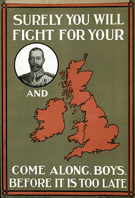 Wwi Poster, 1915 Poster by Granger