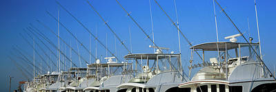 Yacht Charter Boats At A Harbor, Oregon Poster by Panoramic Images