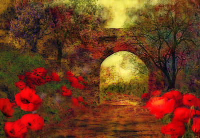 Poster featuring the painting Ye Olde Railway Bridge by Valerie Anne Kelly