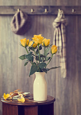 Yellow Roses Poster by Amanda Elwell
