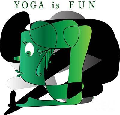 Poster featuring the digital art Yoga by Iris Gelbart