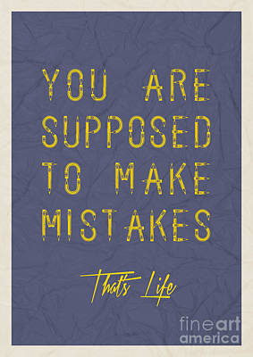 You Are Supposed To Make Mistakes Poster
