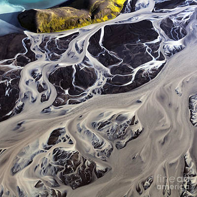 Iceland Aerial Photo Poster