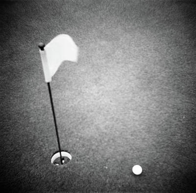 2000s Golf Ball On Putting Green Poster