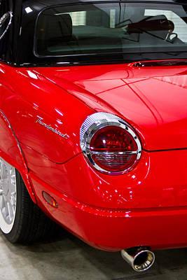 2002 Red Ford Thunderbird-rear Left Poster
