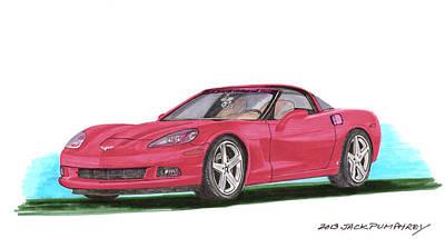 2007 Corvette C 6 Poster by Jack Pumphrey