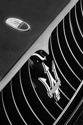 2008 Maserati Granturismo Grille Emblem Poster by Jill Reger