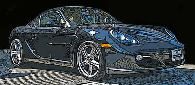 2009 Porsche Cayman Poster by Samuel Sheats