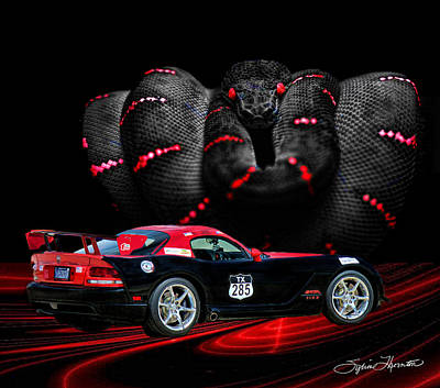 2010 Dodge Viper Poster by Sylvia Thornton