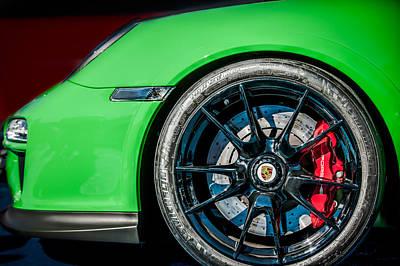 2011 Porsche 997 Gt3 Rs 3.8 Wheel Emblem -0998c Poster