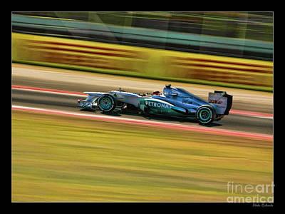 2012 Mercedes Michael Schumacher Poster by Blake Richards