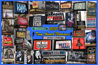 2012 Tony Award Nominees Collage Poster by Steven Spak