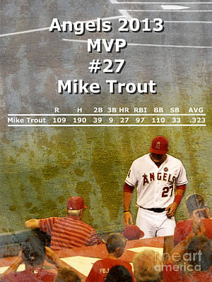 2013 Angels Mvp Poster by Robert Ball