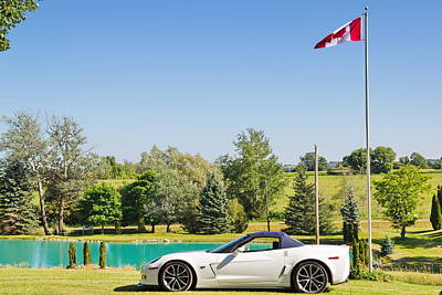 2013 Corvette 427 Sixtieth Anniversary Special By Canadian Flag Poster