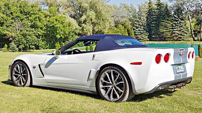 2013 Corvette 427 Sixtieth Anniversary Special Striped Roof Up Poster