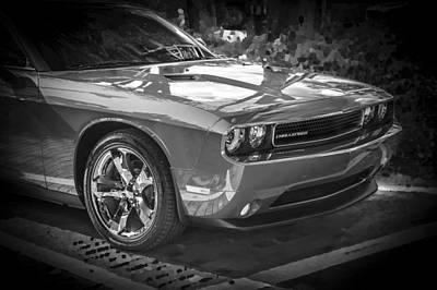2013 Dodge Challenger Bw  Poster