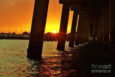 2013 First Sunset Under North Bridge 2 Poster by Lynda Dawson-Youngclaus