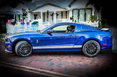 2013 Ford Mustang Shelby Gt 500  Poster by Rich Franco