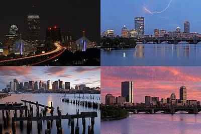2014 Best Of Boston Skyline Photography Poster by Juergen Roth