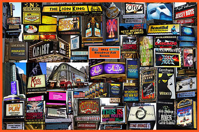 2014 Broadway Fall Season Collage Poster by Steven Spak