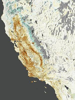2014 California Drought Poster by Nasa Earth Observatory
