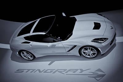 2014 Chevy Corvette  Bw Poster