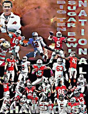 2015 Ohio State National Champions Poster by Gerard  Schneider Jr