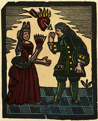 Illustration Of English Tales Folk Tales And Ballads Poster by English School