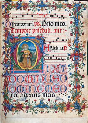 Anonymous Sienese Painter, Psalter Poster