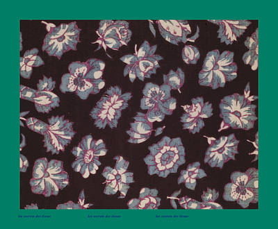 French Fabrics First Half Of The Nineteenth Century 1800 Poster by French School