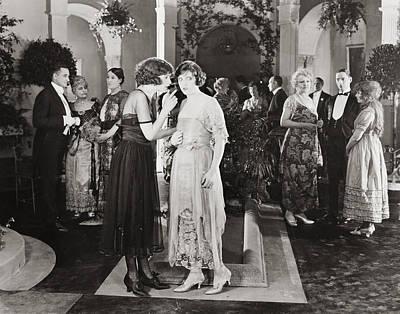 Silent Film Still: Parties Poster