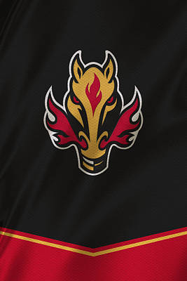 Calgary Flames Poster by Joe Hamilton