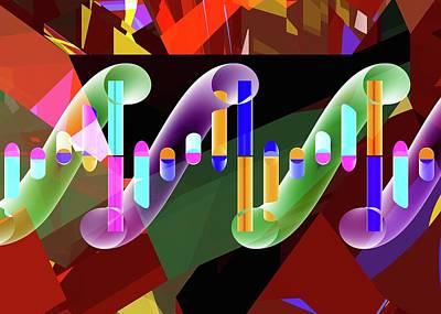 Dna Molecule Poster by Russell Kightley