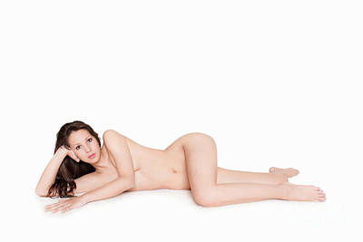 Erotic Nude Brunette Poster by Jochen Schoenfeld