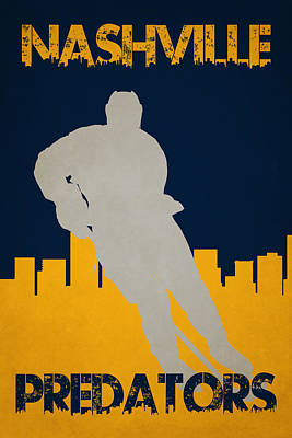 Nashville Predators Poster by Joe Hamilton