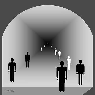 220 - The Light At The End Of The Tunnel 2 Poster by Irmgard Schoendorf Welch