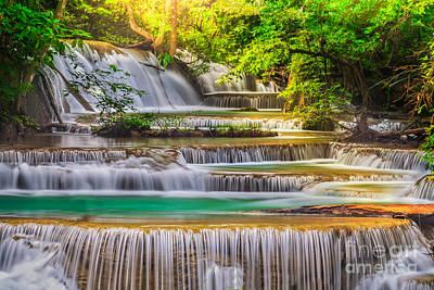 Erawan Waterfall Poster