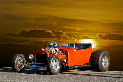 '23 Ford 'hemi T' Roadster Poster by Dave Koontz