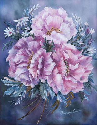 Peonies In Pink Poster by Frances Lewis