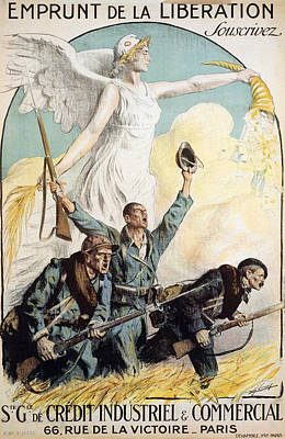 World War I French Poster Poster by Granger